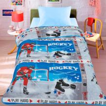 Купить одеяло letto покрывало хоккей 140х200 см hockey140