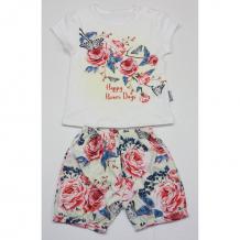 Купить комплект футболка/шорты bidirik, цвет: белый/розовый 768