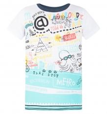 Купить футболка kiki kids осьминожек, цвет: белый ( id 8228257 )
