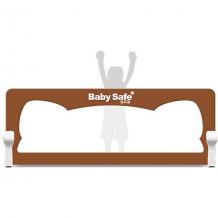 Купить барьер для кроватки baby safe ушки, 180х66 коричневый ( id 15909638 )
