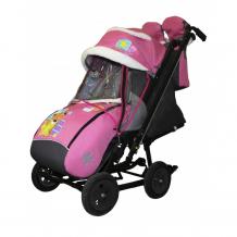 Купить санки-коляска galaxy snow city-2-1 мишка со звездой на больших надувных колёсах snow galaxy city-2-1 мишка со звездой