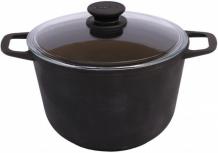 Купить биол кастрюля чугунная со стеклянной крышкой 6 л 0206с
