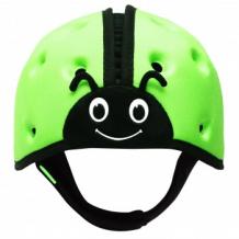 """Купить мягкая шапка-шлем для защиты головы safeheadbaby """"божья коровка"""", цвет: зеленый safeheadbaby 996939869"""