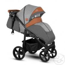 Купить прогулочная коляска camarelo elix, цвет: серый меланж/коричневая экокожа ( id 10515263 )