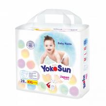 Купить yokosun подгузники-трусики xxl (15-23 кг) 28 шт. 4602009417078