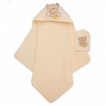 Купить полотенце-уголок и рукавичка-мочалка медвежонок mothercare 2912965