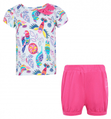 Купить комплект блузка/шорты umka, цвет: розовый/белый ( id 6272029 )