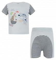 Комплект футболка/шорты Sofija Bukiecik, цвет: серый ( ID 2676473 )