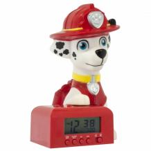 Часы Щенячий патруль (Paw Patrol) будильник BulbBotz минифигура Marshall высота 15.24 см 2021319