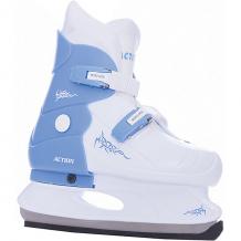 Купить коньки раздвижные pw-219-2, голубой/белый, action ( id 5084561 )