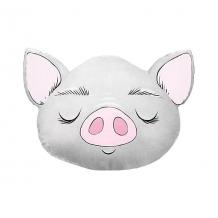 """Купить подушка ligra """"свинка"""" ручной работы, 50х55 см, серая 10627209"""