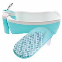 Купить детская ванночка-джакузи с душевым краником summer infant lil luxuries, цвет: голубой summer infant 996933218