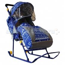 Купить санки-коляска galaxy снежинка премиум сксп-т