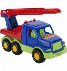 Купить грузовик полесье максик синяя кабина-красный кран ( id 3309971 )
