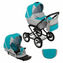 Купить коляска 2 в 1 slaro anna lux, цвет: светло-серый/бирюзовый ( id 10648007 )