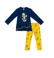 Купить комплект туника/брюки play today золотой сад, цвет: оранжевый/синий 388034