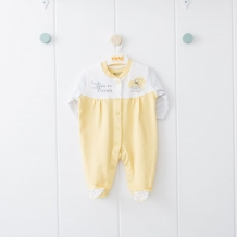 Купить комбинезон kidaxi, цвет: желтый/белый ( id 10600418 )