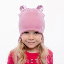 Купить hohloon шапка с ушками из пайеток и нашивкой маленькое сердце шв20-36361381