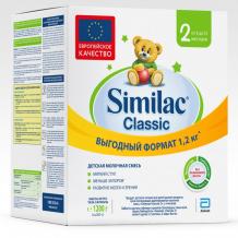 Купить similac молочная смесь классик 2 6-12 мес. 1200 г 20033437