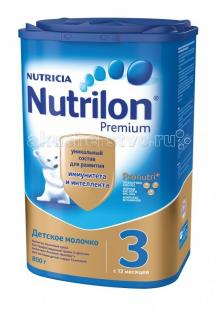 Купить nutrilon детское молочко premium 3, с 12 месяцев 800 г