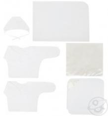 Комплект на выписку Атласный Зайка Моя, цвет: бежевый 9 предметов ( ID 6053395 )