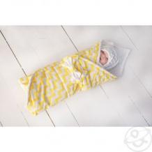 Купить комплект на выписку волна slingme, цвет: желтый комбинезон/одеяло/шапка/снуд/бант 90 х 90 см ( id 12797674 )