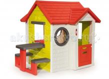 Купить smoby игровой детский домик со столом 810401