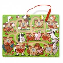 Купить деревянная игрушка melissa & doug магнитные игры лабиринт цифры 2280m