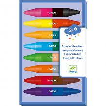 Купить карандаши двойные (8 шт., 16 цветов), djeco ( id 5448814 )