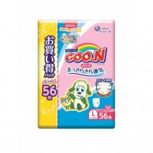 Купить goon подгузники-трусики l (9-14 кг) для девочки 56 шт. 853157/853508
