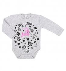 Купить боди koala cudenko, цвет: серый/розовый ( id 8189089 )