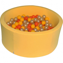 """Купить сухой бассейн hotenok """"желтое золото"""" 40 см, 200 шариков ( id 12191150 )"""