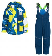 Купить комплект куртка/полукомбинезон stella, цвет: желтый/синий ( id 8744215 )