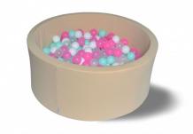 Купить hotenok сухой бассейн ванильное мороженое 40 см с комплектом шаров 200 шт. sbh062