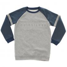 Купить свитшот детский quiksilver mebokcrewyouth light grey heather темно-голубой,светло-серый
