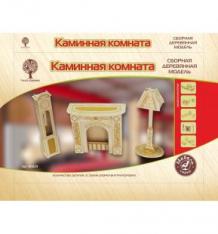 Купить сборная деревянная модель wooden toys мебель для кукол - каминная комната ( id 2830538 )