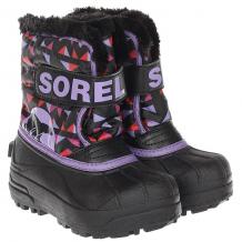 Купить детский sorel childrens snow commander black paisley purple черный,фиолетовый 1189720