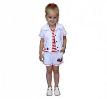 Купить комплект шорты/майка/блузка славита стрекоза, цвет: белый ( id 12292570 )