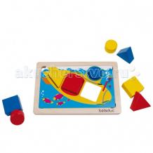 Купить деревянная игрушка beleduc развивающая игра геосортер 21010 21010