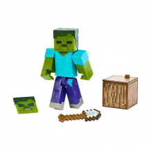 Купить маленькая фигурка minecraft zombie, с артикуляцией ( id 14826263 )