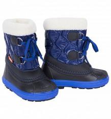 Купить сноубутсы demar furry, цвет: черный/синий ( id 896089 )