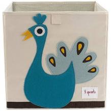 Купить коробка для хранения 3 sprouts павлин 10826481