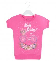 Купить футболка free age hello spring, цвет: розовый ( id 4689091 )