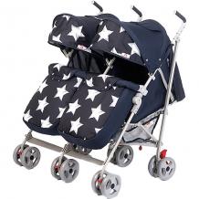 Купить коляска-трость для двойни babyhit twicey, тёмно-синяя со звёздами 11429422