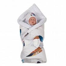 Купить комплект на выписку lm2 slingme, цвет: белый комбинезон/одеяло/шапка/снуд/бант 90 х 90 см ( id 12797932 )