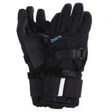 Купить перчатки сноубордические женские bern womens synthetic gloves removable wristguard black черный 1103983