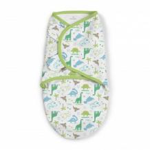 Купить конверт для пеленания на липучке summer infant swaddleme, размер s/m, dino summer infant 997103108
