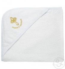Купить полотенце с уголком funecotex 80 х 90 см, цвет: белый/золотой ( id 10484279 )
