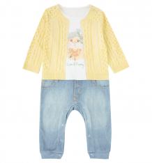 Купить комбинезон папитто fashion jeans, цвет: синий/желтый 564-01 86
