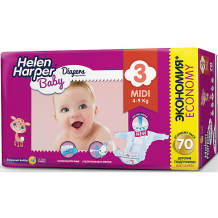 Подгузники Midi Helen Harper Baby 4-9 кг., 70 шт. ( ID 4729781 )